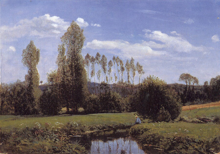This painting, Le Havre, is an early example of Monet's work.