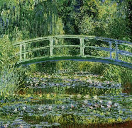 Water Lilies and the Japanese Bridge is a beautiful example of Monet's garden paintings.