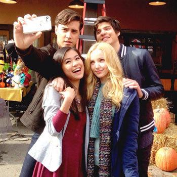 Ryan takes a cast selfie