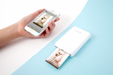 Print pictures instantly with this Polaroid printer!