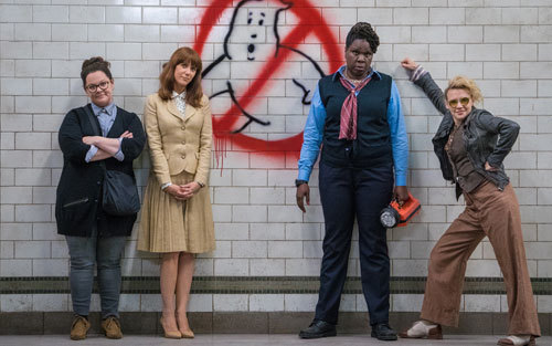 Early Ghostbusters before uniforms with new logo