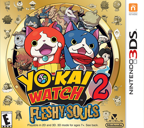 Yo-Kai Watch 2: Fleshy Souls 3DS Box Art