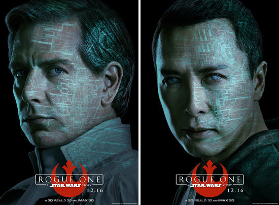 Krennic and Chirrut Character Posters