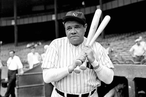 Legendary Yankees' slugger Babe Ruth