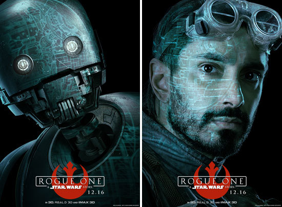 Driod and Bodhi Character Posters