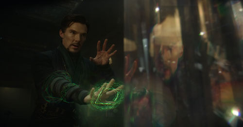 Benedict practiced magical hand movements in a mirror