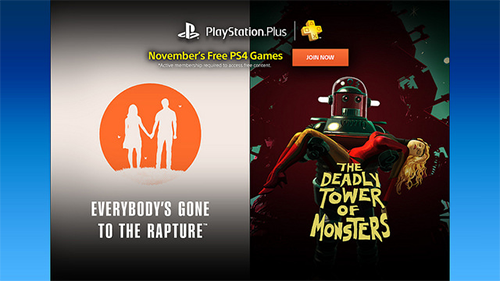 The two new games coming to PlayStation Plus for PS4 in November 2016.