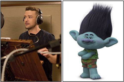 Justin Timberlake records the voice of Branch