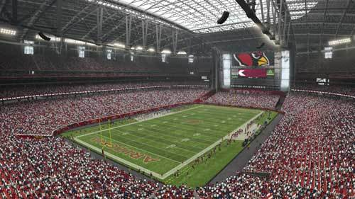 University of Phoenix Stadium is home of the Cardinals