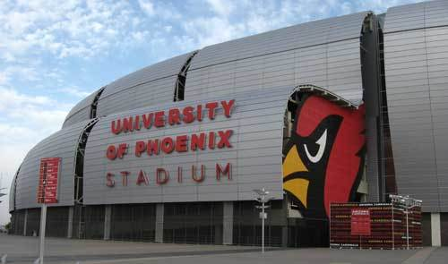 The entrance of University of Phoenix Stadium