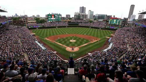 Wrigley Field is home of the Chicago Cubs