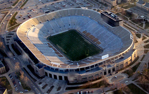 Aerial View of Notre Dame Stadium