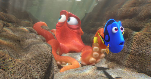 When Dory finds herself in the Marine Life Institute, Hank is the first to greet her