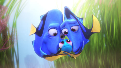 Baby Dory with her mom and dad