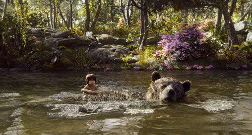Mowgli with bear Baloo