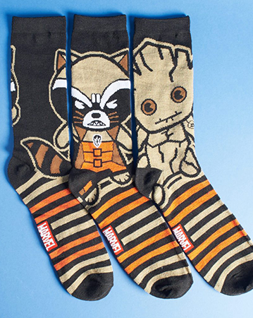 Guardians of The Galaxy trio of socks.