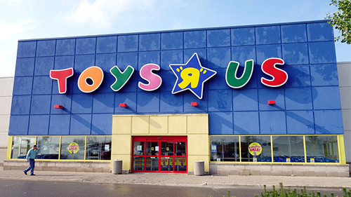 A Toys R Us store front