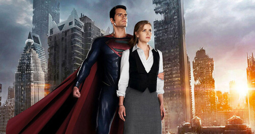 Amy as Lois Lane with Henry Cavill as Superman