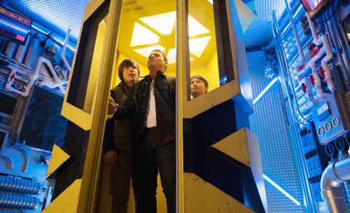 The guys inside the giant MECH-X4 robot