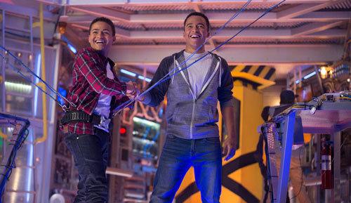 Ryan celebrates a successful move with his bro Mark