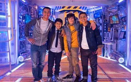 MECH cast: (L to R) Raymond Cham, Kamran Lucas, Pearce Joze and Nate