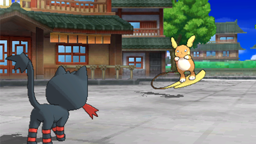 Litten battling an Alolan Raichu exemplifies what makes this game great.