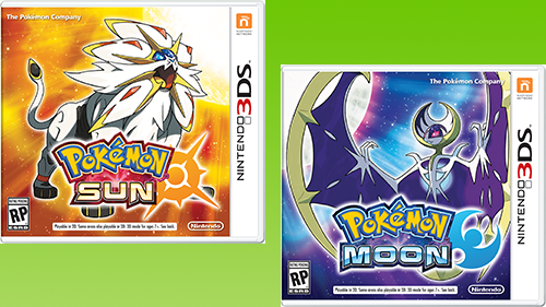 Pokémon Sun and Pokémon Moon Box Art