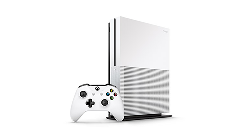 The redesigned and 4K-ish/HDR capable Xbox One S.