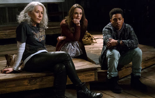 Actors portray Death (Helen Mirren), Love (Keira Knightley) and Time (Jacob Latimore)