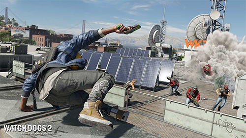 Fun bright skies reflect the levity of Watch_Dogs 2's world.