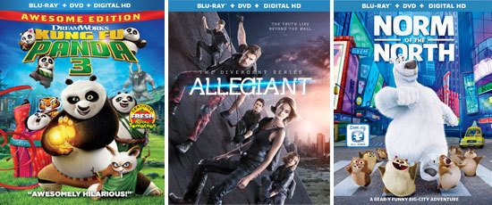 Kidzworld's Gift Guide - Kung Fu Panda 3, Allegiant, Norm of the North