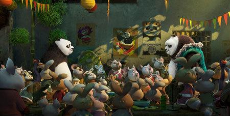 Po meets his long-lost panda father Li