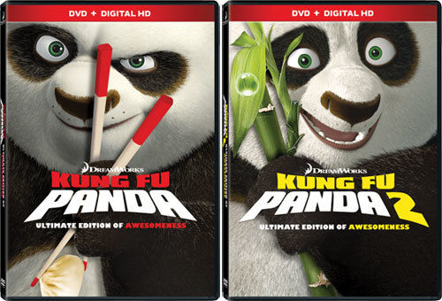 Kung Fu Panda and Kung Fu Panda 2 DVD Covers