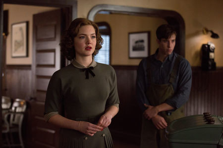 Miriam (Holliday Grainger) invades the Coast Guard offices