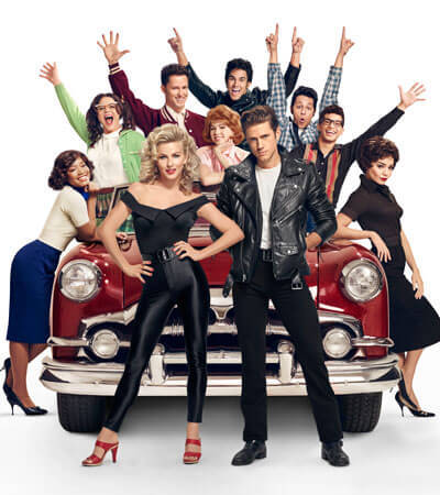 The cast of Grease: Live