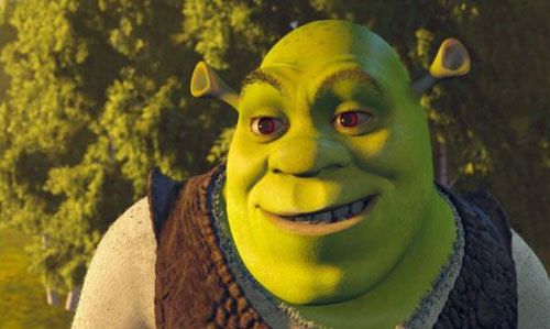 Loveable green ogre, Shrek