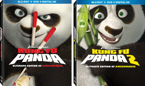 Kung Fu Panda 1and 2 Blu-ray Covers