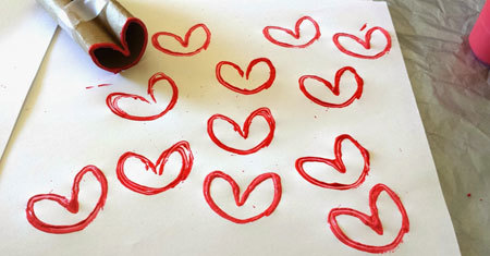 Stamping Your Hearts is Fun and Easy
