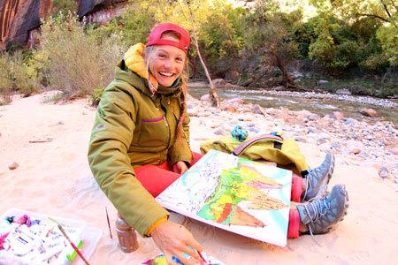 Rachel sketching