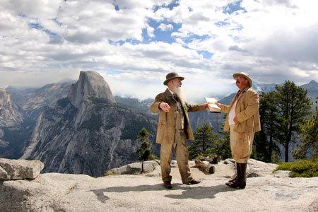 John Muir and Teddy Roosevelt in Yosemite