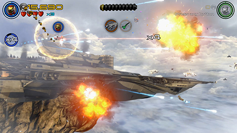 Iron Man takes to the skies for some shoot-em-up action!