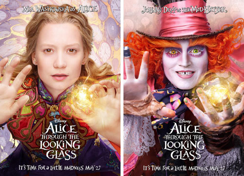 Mia Wasikowska as Alice and Johnny Depp as the Mad Hatter