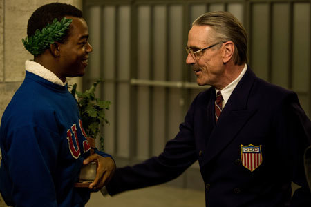 Jesse is greeted by U.S. Olympic chairman Brundage