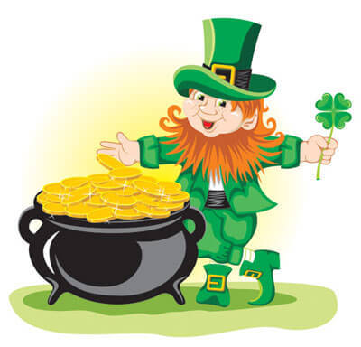 St. Partick's Day Leprechaun and pot of gold!