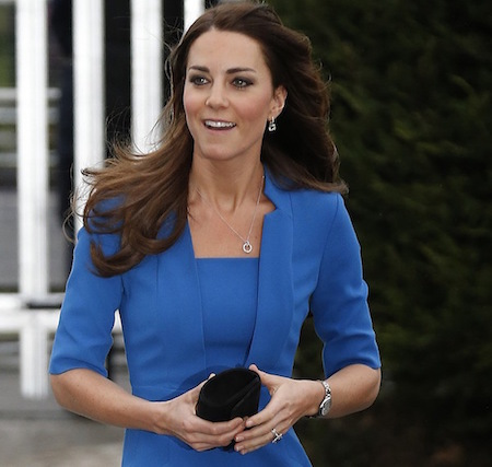 This darker but still vibrant blue is super flattering on British royal Kate Middleton.
