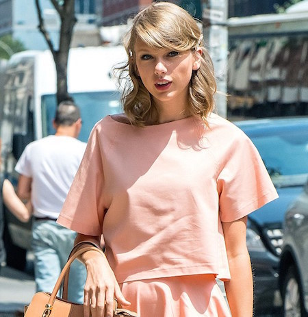 Taylor Swift knows what's up - she's been rocking peach for a while now.