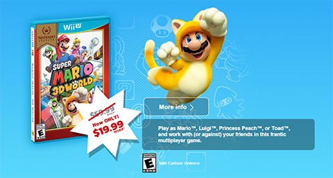 Super Mario 3D World lets you wear a cat suit!
