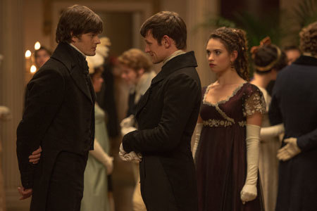 Mr. Collins (Matt Smith) chats with Mr. Darcy