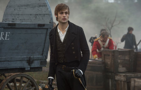 Mr. Bingley (Douglas Booth) on the battlefield