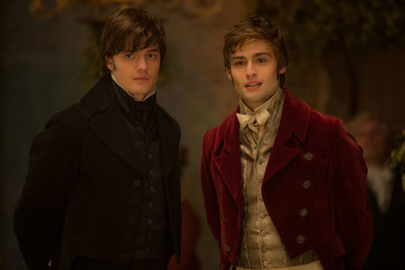Darcy and Bingley eye the loves of their lives